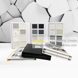 Display Cases--plastic sample binder