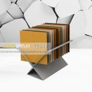 VC043 Metal Display Rack for Stone Slab Tiles
