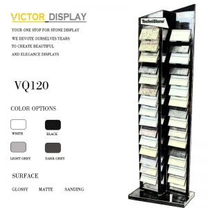 VQ120 Black Acrylic Stone Free Standing Display