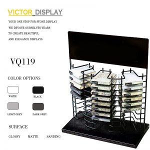 VQ119 Metal Black Stone Table Top Display