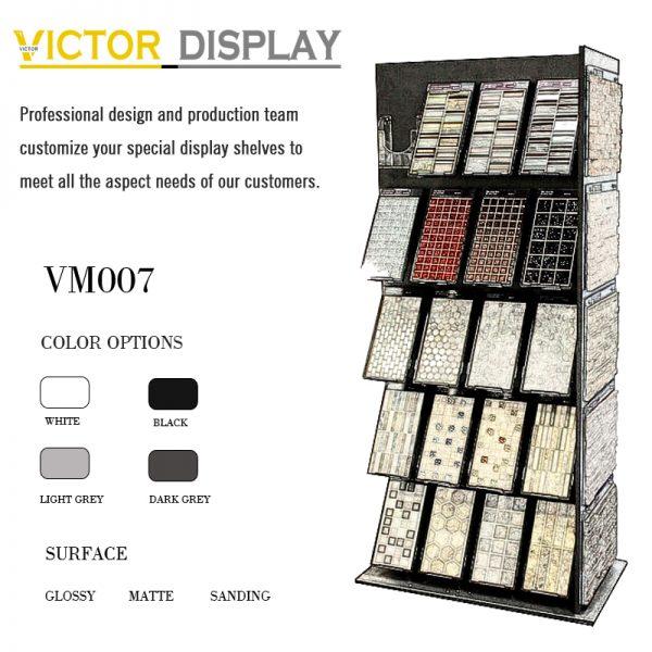 VM007 mosaic tile showroom display cabinet (1)