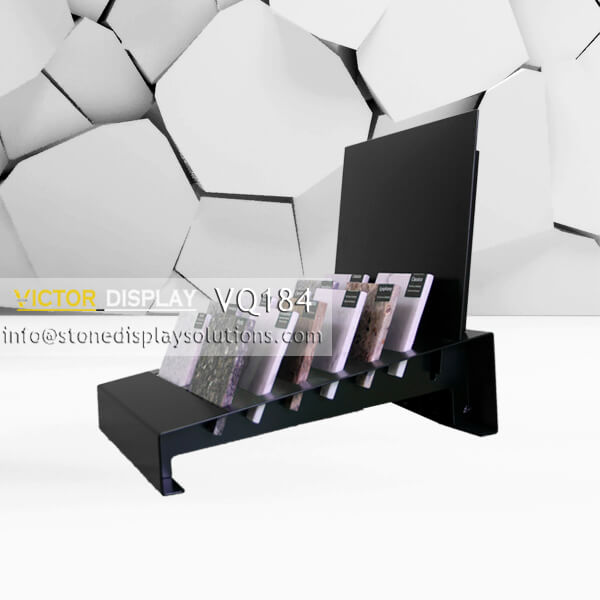 VQ184 Black Countertop Display Rack