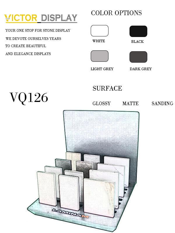 VQ126 Quartz Countertop Display Rack