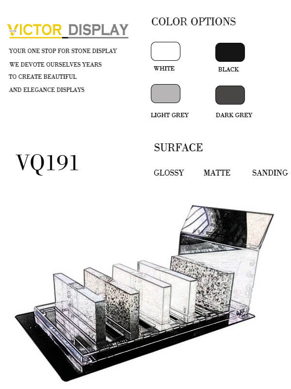 VQ191 Acrylic Display Stands for Stone Tile Samples