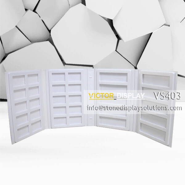 4 binder is 4-Page Stone Sample Binder VS403  High quality ABS plastic which is light and tough,