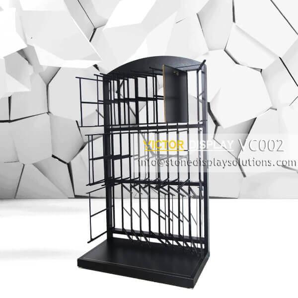 VC002 Powder Coated Black Tiles Showroom Display