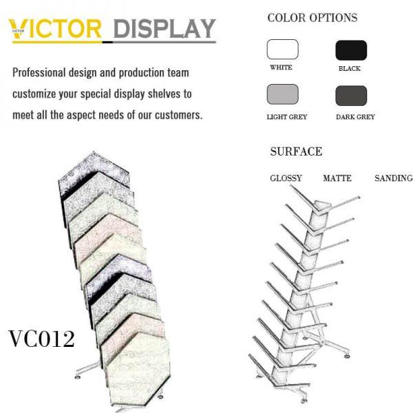 VC012 flooring waterfall ceramic frame rack (2)