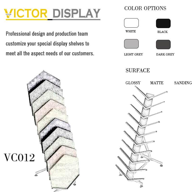 VC012 Flooring Waterfall Ceramic Frame Rack