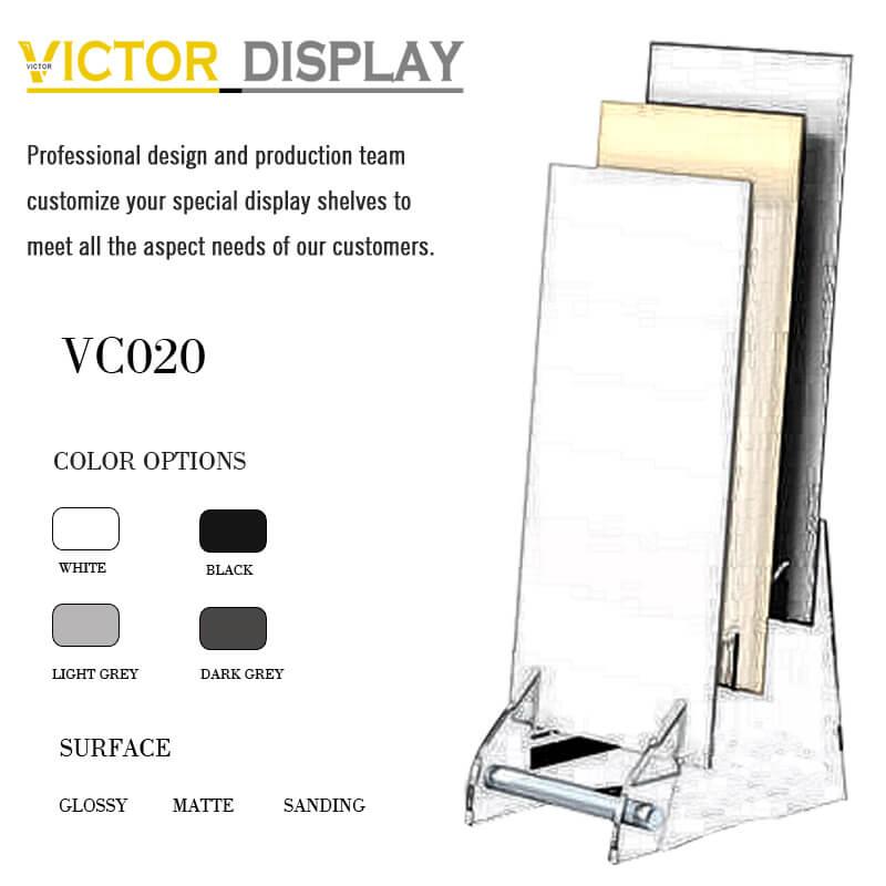 VC020 MDF Rack Display Big Slab Tile Samples