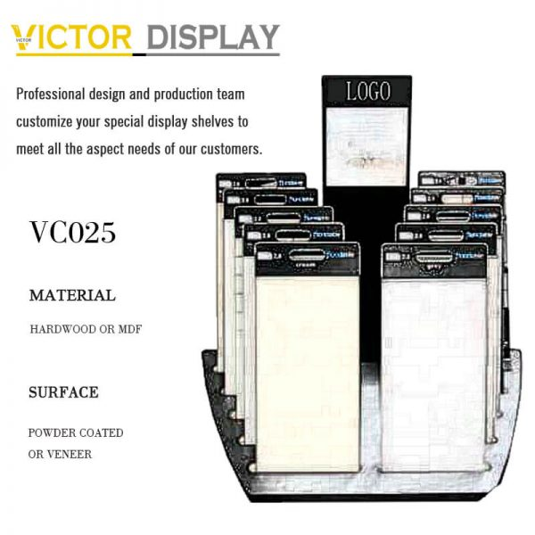VC025 Customized Display Rack for Stone FLoor Tile Samples (1)