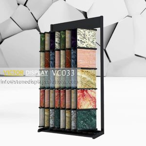 VC033 Marble Granite Free Standing Display Rack