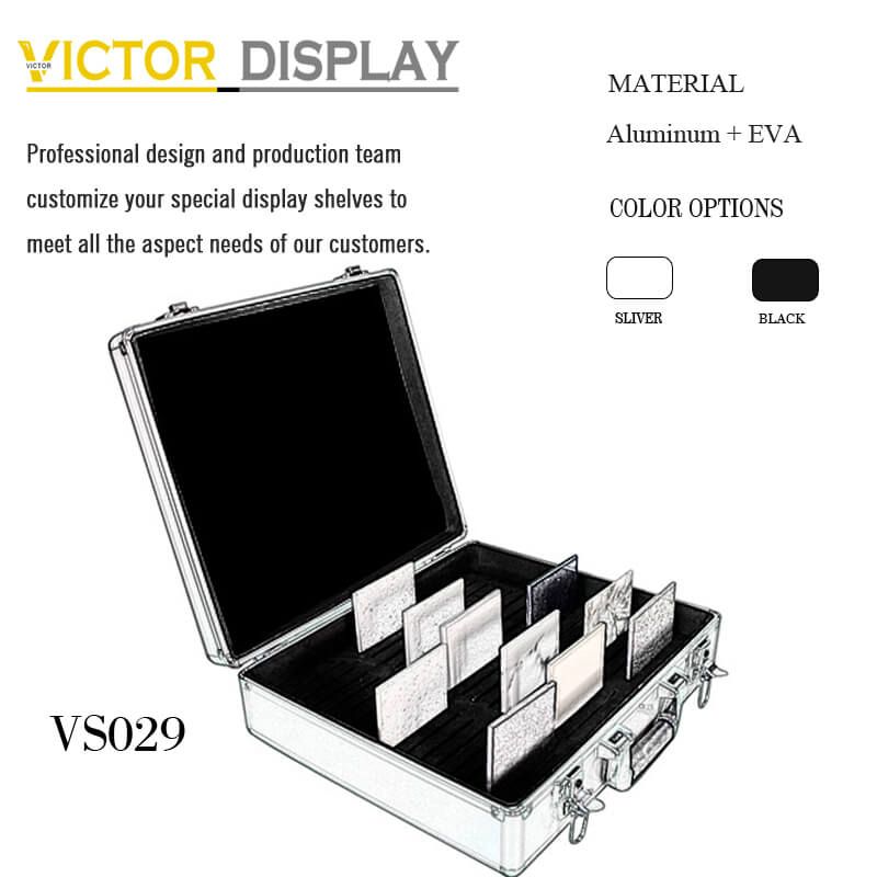 VS029 Aluminum Stone Samples Carrying Case