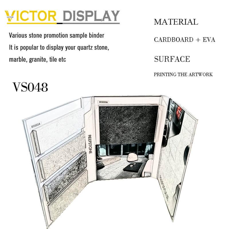 VS048 Granit Farbmuster Buch von victor Anzeige