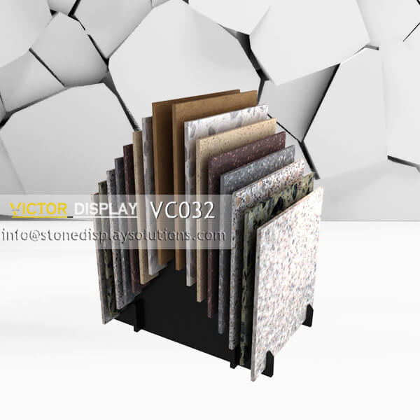 VC032 wood flooring tiles display rack