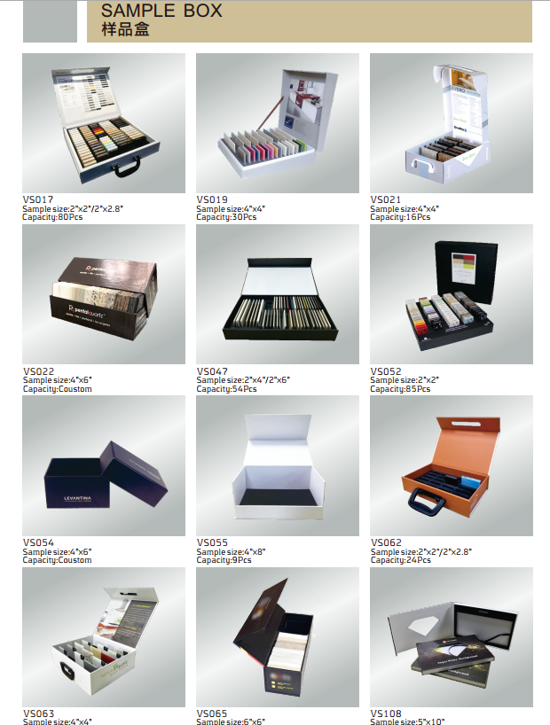 Stone Sample Case Sample Box from Victor DIsplay.