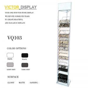 VQ105 quartz marble granite floor display