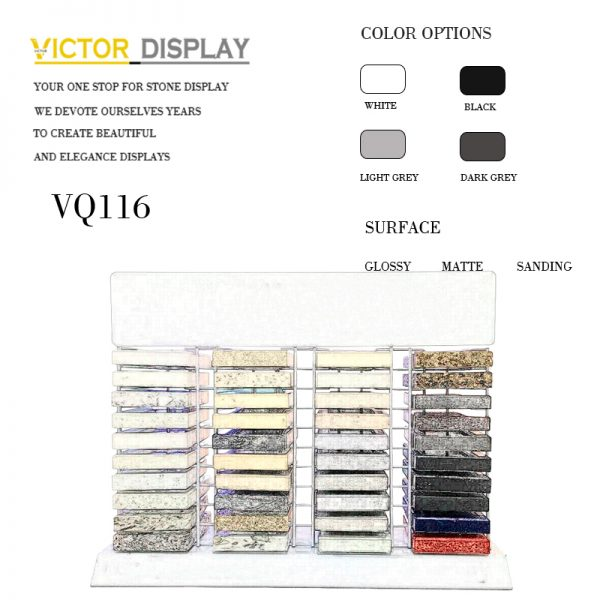 VQ116 10 Tier Counter Quartz Stone Display