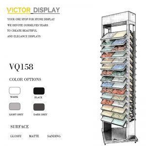 VQ158 Metal Stone Display For Impulse Buys in Showroom