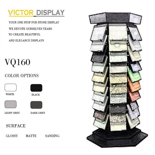 VQ160-1 Quartz Stone Display Tower Rack