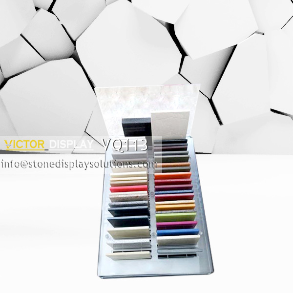 VQ113 Acrylic Counter Top Display Rack for Stone Samples (1)