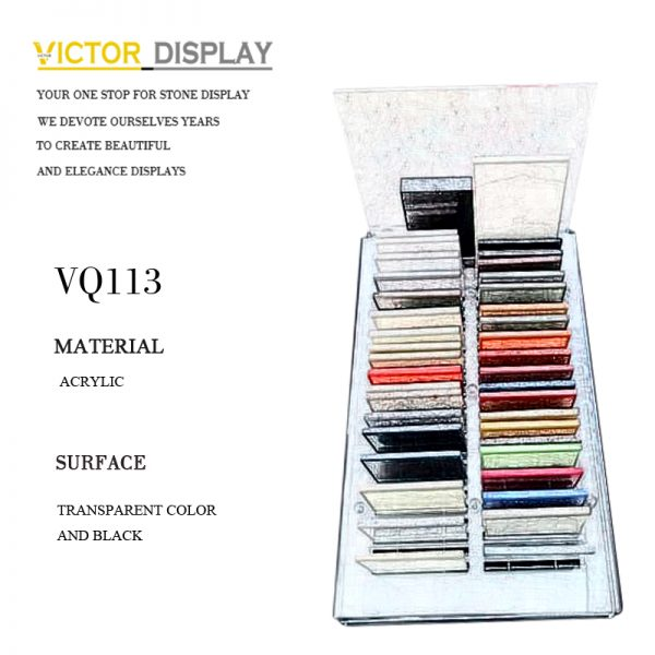 VQ113 Acrylic Counter Top Display Rack for Stone Samples (2)