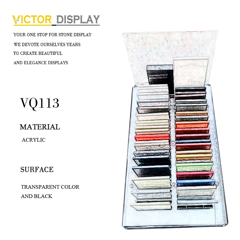 VQ113 Acrylic Counter Top Display Rack for Stone Samples