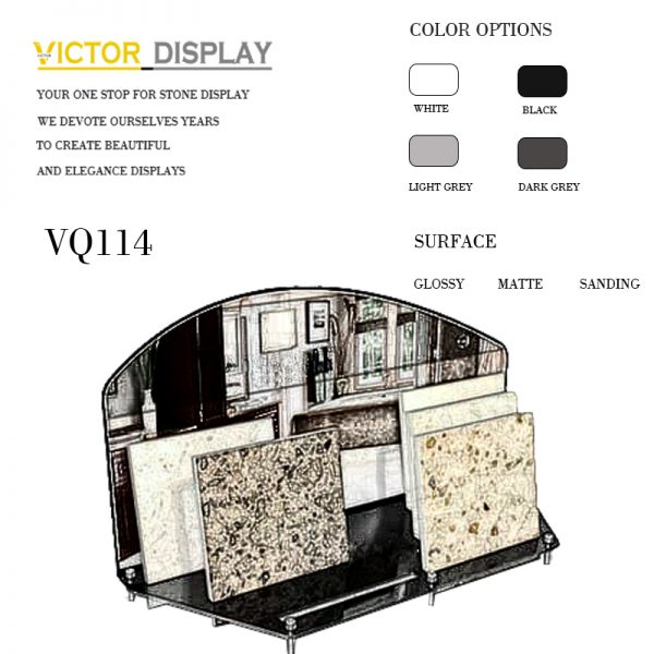 VQ114 table top display for marble granite