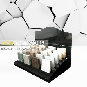 Black Acrylic Stone Countertop Display