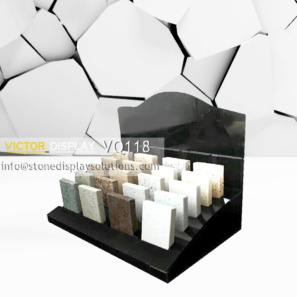 VQ118 Black Acrylic Stone Countertop Display (1)