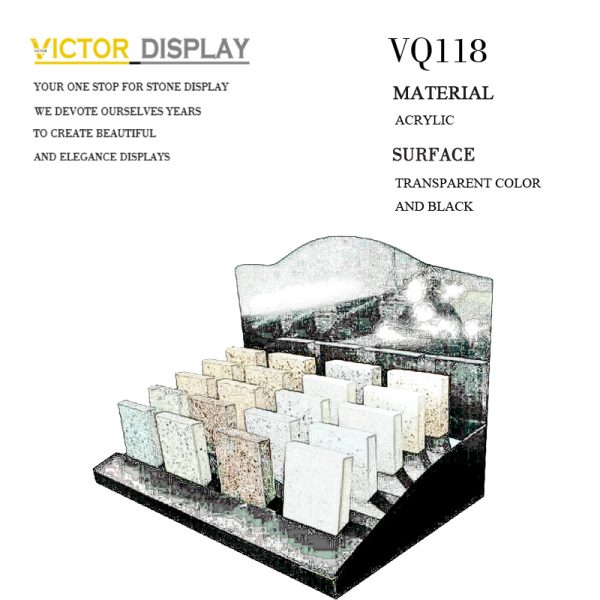 VQ118 Black Acrylic Stone Countertop Display (2)