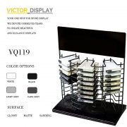 VQ119 Metal Black Stone Table Top Display