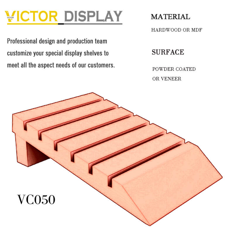 VC050 Colorful Attractive Waterfall Slab Display Rack (1)