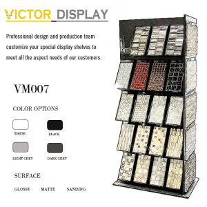 VM007 mosaic tile showroom display cabinet