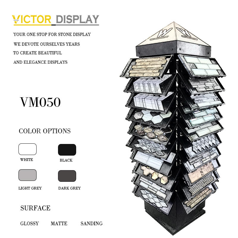 Mosaic tile samples display stand